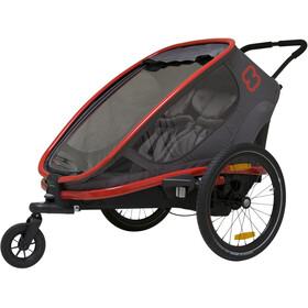 Hamax Outback Rimorchio bici, nero/rosso